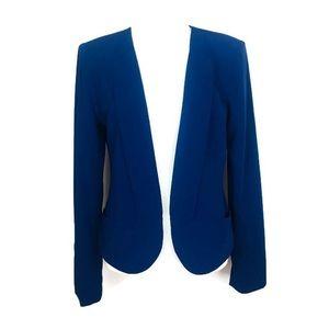 Bebe Royal Blue Open Front Blazer
